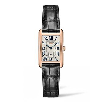 Longines Dolcevita Ladies' Black Leather Strap Watch - Product number 4507118