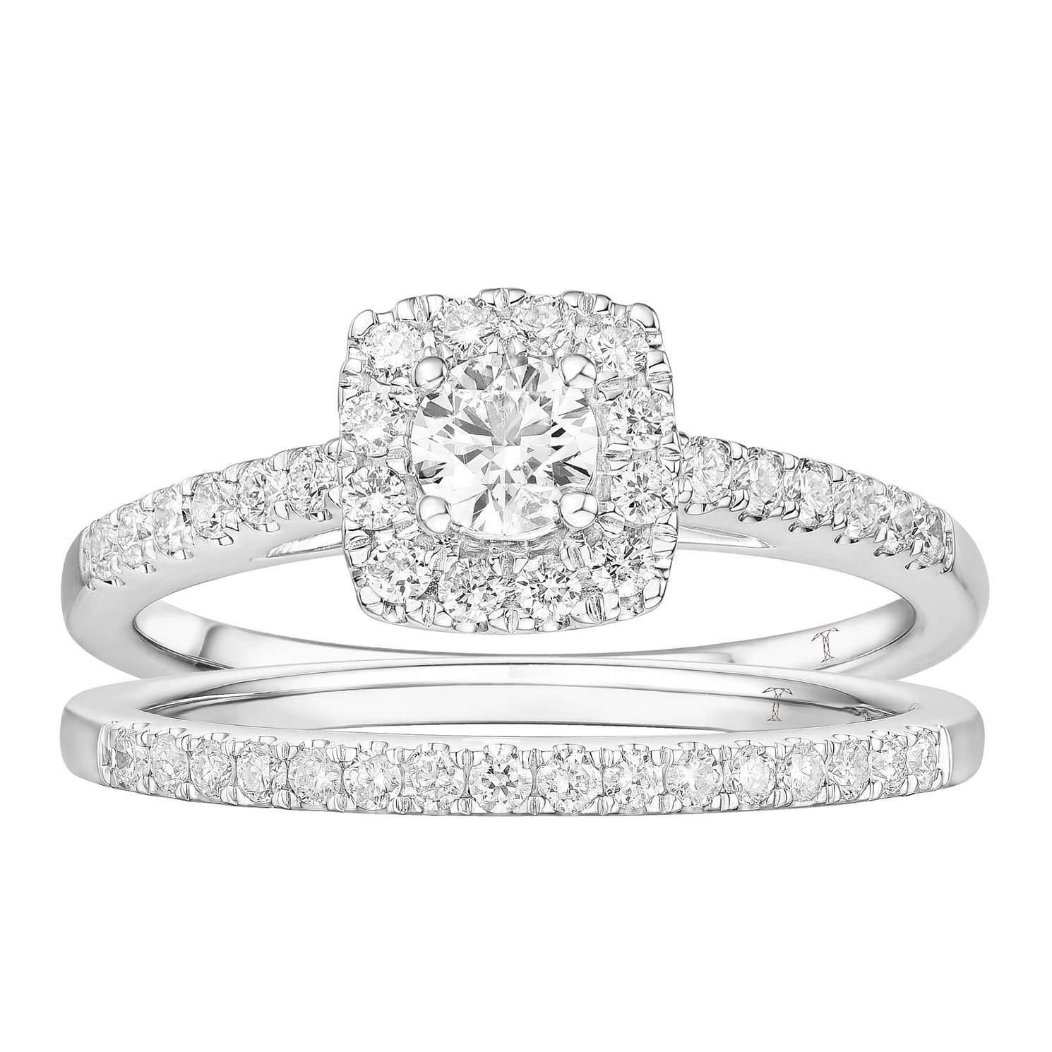 Tolkowsky 18ct White Gold 0.75ct Total Diamond Bridal Set - Product number 4507975