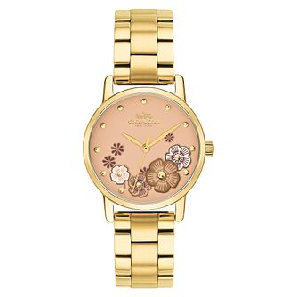 Coach Grand Ladies' Yellow Gold Tone Bracelet Watch - Product number 4508440