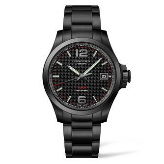 Longines Conquest V.H.P Men's Black Ip Bracelet Watch - Product number 4509633