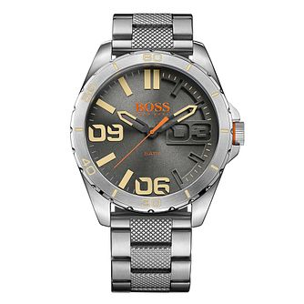 Boss Orange Men's Grey Dial Stainless Steel Bracelet Watch - Product number 4509943