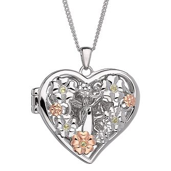 Clogau Sterling Silver & Gold Open Fairy Pendant - Product number 4510038