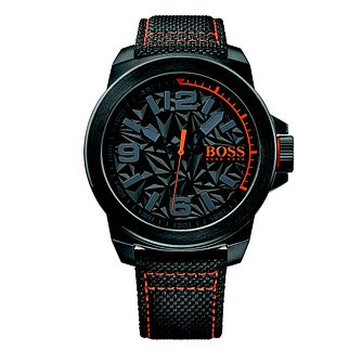 d37df2c23da2 Boss Orange Men s Black Dial Black Canvas Strap Watch - Product number  4510046