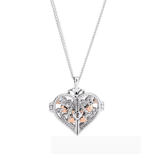 Clogau Sterling Silver & Gold Kensington Locket - Product number 4510305