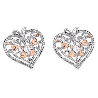 Clogau Sterling Silver & Gold Kensington Stud Earrings - Product number 4510313