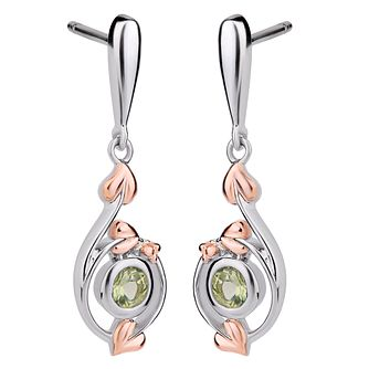 Clogau Sterling Silver & Gold Love Vine Peridot Earrings - Product number 4510321