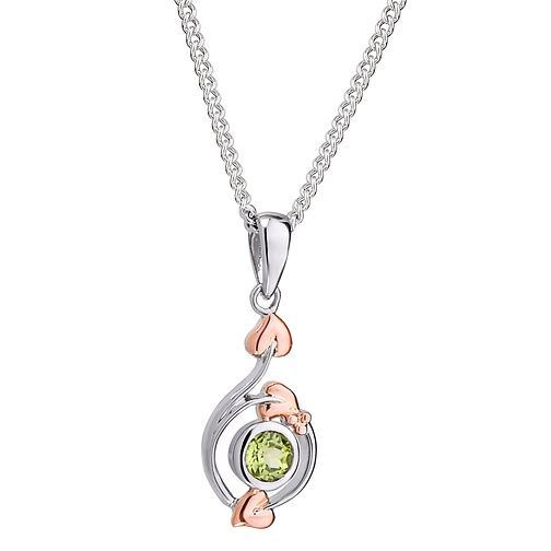 Clogau Sterling Silver & Gold Love Vine Peridot Pendant - Product number 4510348
