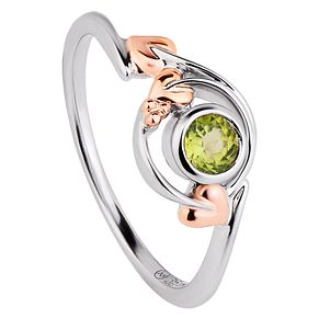 Clogau Sterling Silver & Gold Love Vine Peridot Ring - Product number 4510356