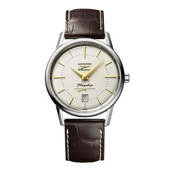 Longines Flagship Heritage Men's Brown Leather Strap Watch - Product number 4511085