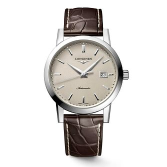 Longines 1832 Men's Brown Leather Strap Watch - Product number 4511093