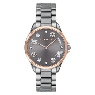 Coach Mod Sport Ladies' Ion Plated Grey Bracelet Watch - Product number 4513371