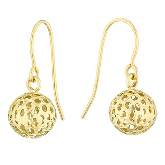 9ct Yellow Gold 3D Ball Drop Earrings - Product number 4513886