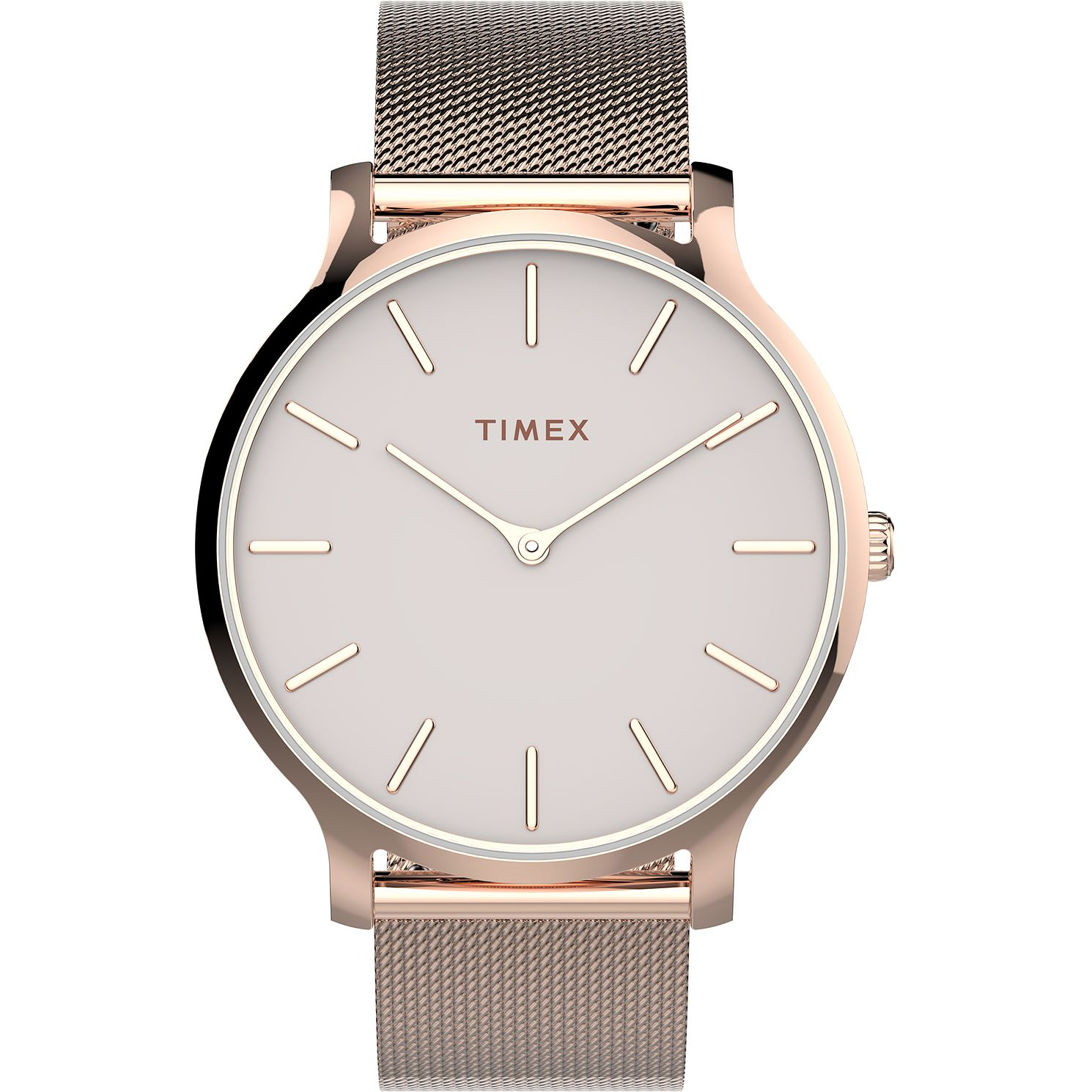 Timex Ladies' Rose Tone Mesh Bracelet Watch - Product number 4514262