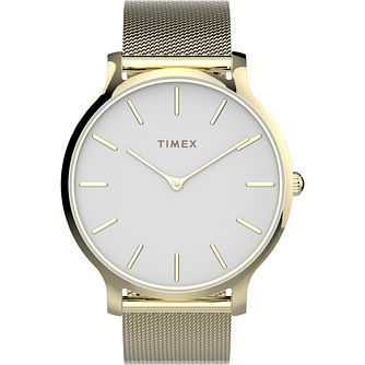 Timex Ladies' Yellow Gold Tone Mesh Bracelet Watch - Product number 4514270