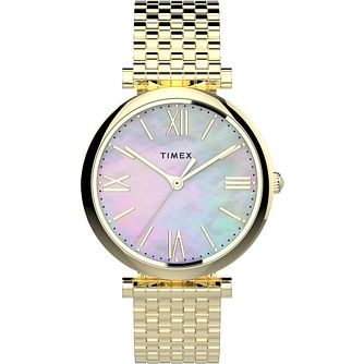 Timex Parisienne Ladies' Yellow Gold Tone Bracelet Watch - Product number 4514289