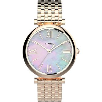 Timex Parisienne Ladies' Rose Tone Bracelet Watch - Product number 4514297