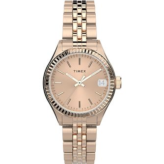 Timex Waterbury Traditional Ladies' Rose Tone Bracelet Watch - Product number 4514335