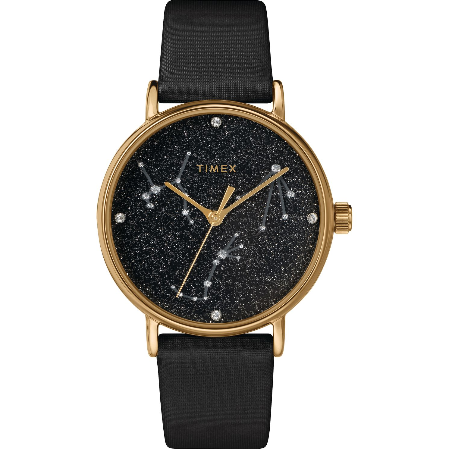 Timex Indiglo Ladies' Black Leather Strap Watch - Product number 4514416