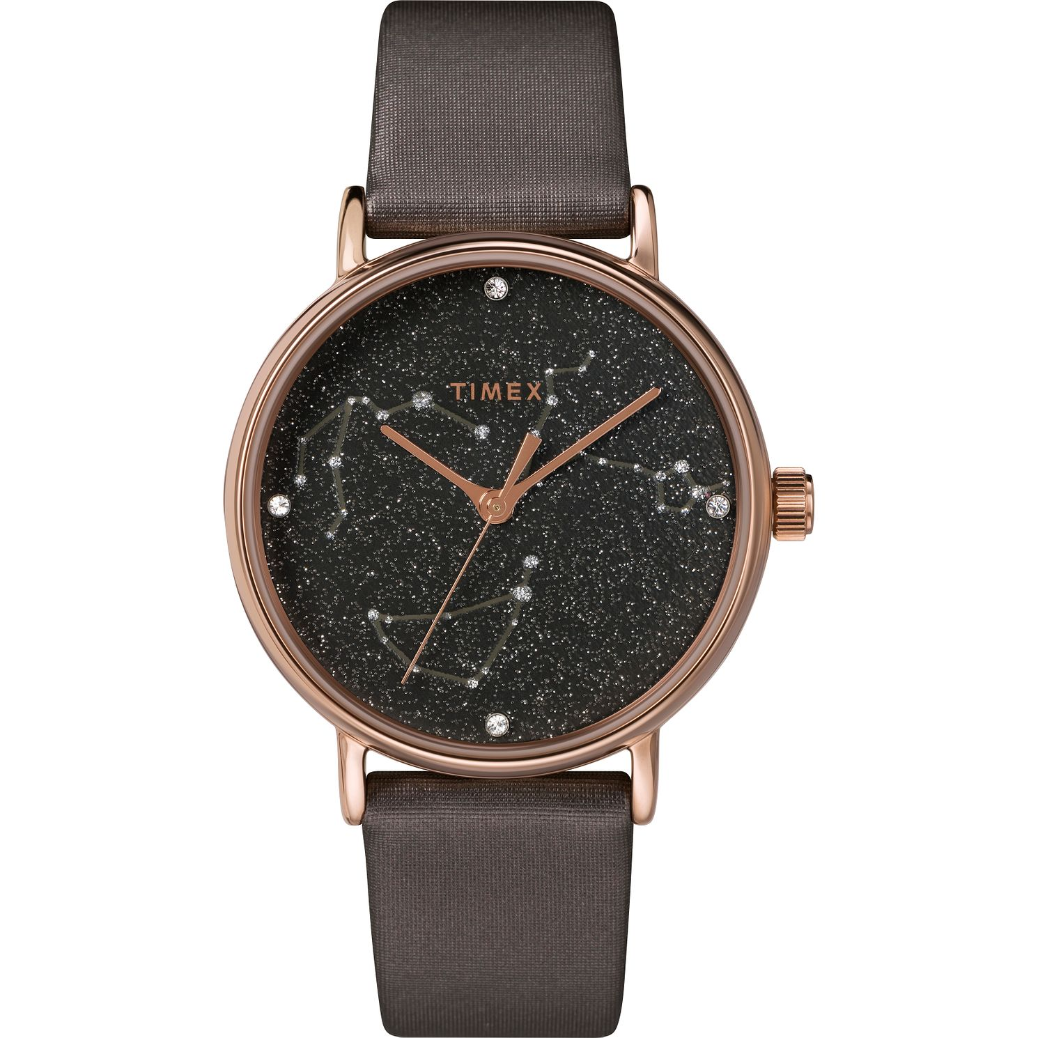 Timex Indiglo Ladies' Bronze Leather Strap Watch - Product number 4514424
