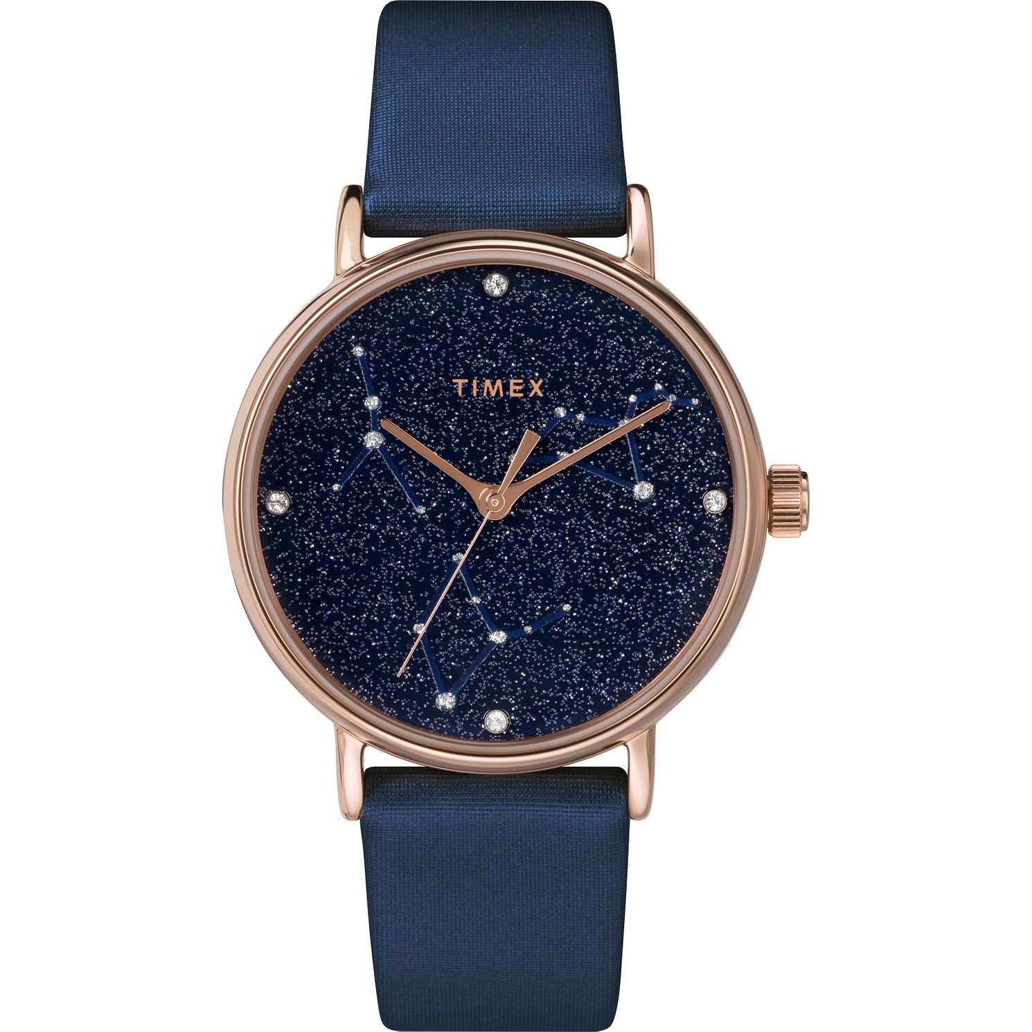 Timex Indiglo Ladies' Dark Blue Leather Strap Watch - Product number 4514467