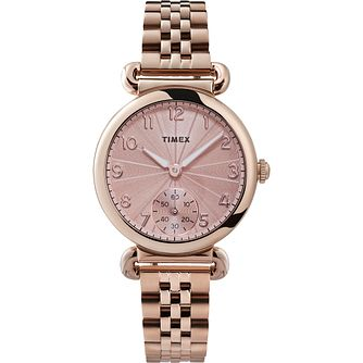 Timex Ladies' Rose Tone Bracelet Watch - Product number 4514475