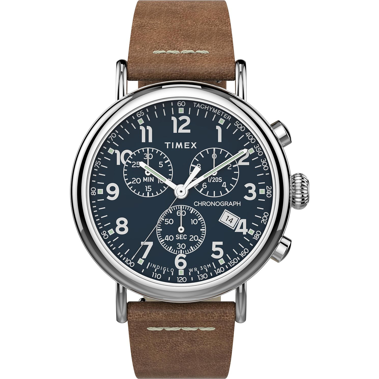 Timex Standard Men's Brown Leather Strap Watch - Product number 4514696