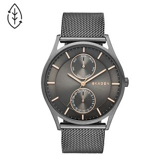 Skagen Men's Gunmetal Ion-Plated Mesh Bracelet Watch - Product number 4515285