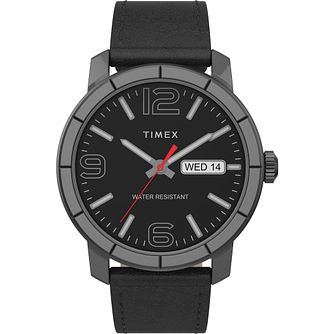 Timex Men's Classic Black Leather Strap Watch - Product number 4515536