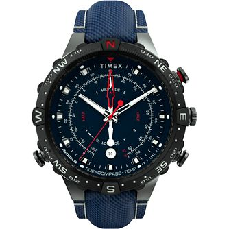 Timex Intelligent Tide Temp Men's Blue Fabric Strap Watch - Product number 4515587