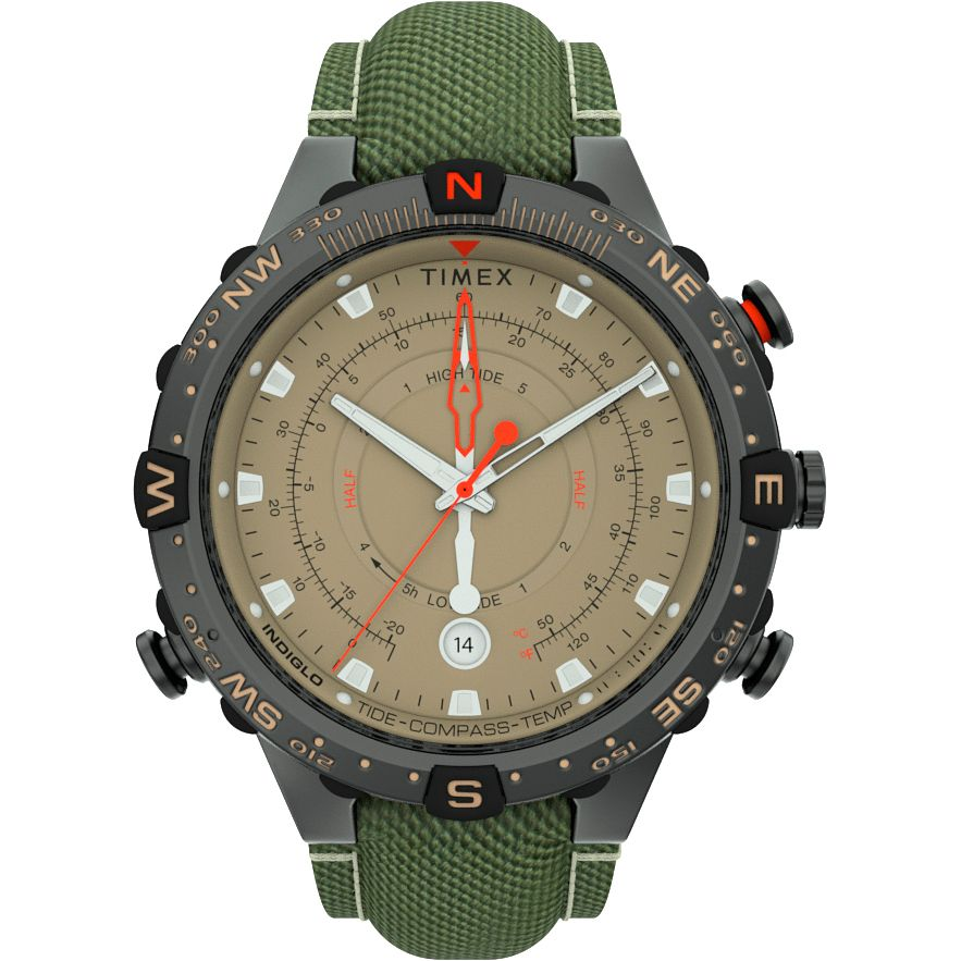 Timex Intelligent Tide Temp Men's Green Fabric Strap Watch - Product number 4515617