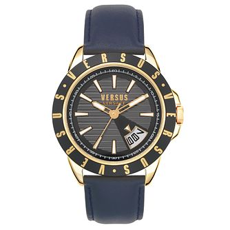 Versus Versace Arthur Black Leather Strap Watch - Product number 4515633