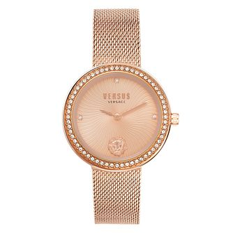 Versus Versace Léa Rose Tone Mesh Bracelet Watch - Product number 4515803