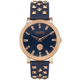 Versus Versace Pigalle Blue Leather Strap Watch - Product number 4515943