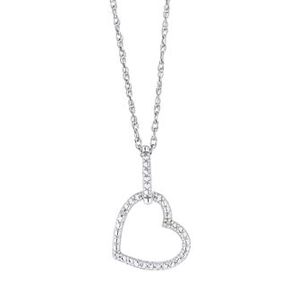 Silver Diamond Heart Pendant - Product number 4516648