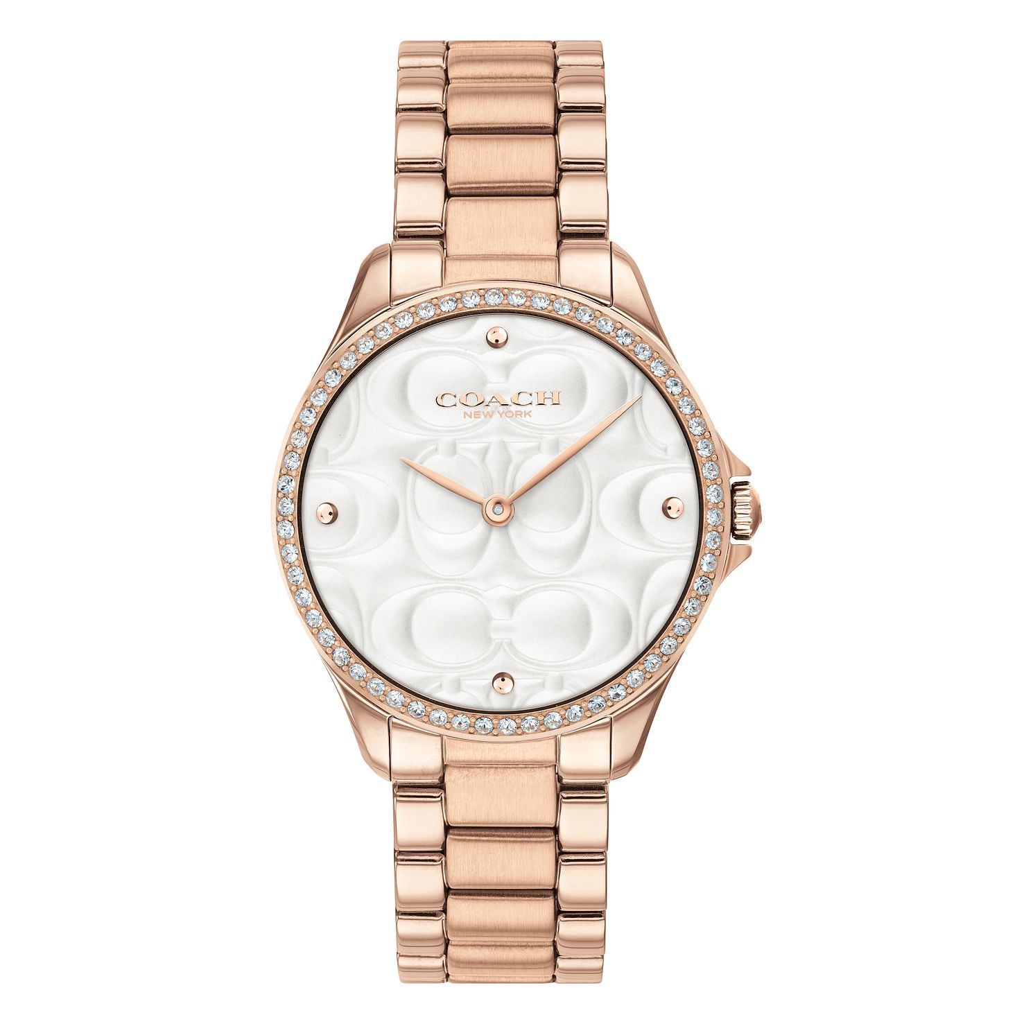 Coach Mod Sport Ladies' Rose Gold Tone Stone Set Watch - Product number 4517113