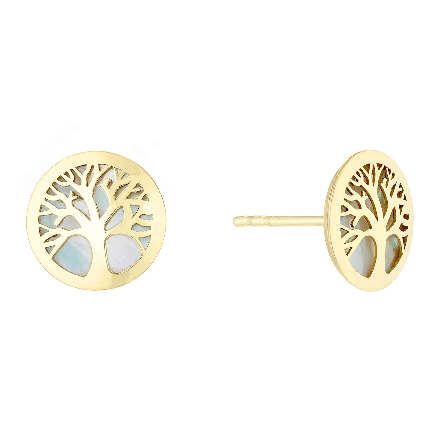 9ct Yellow Gold Tree Of Life Designs Stud Earrings - Product number 4517253