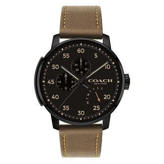 Coach Bleeker Men's Black Ion Plated Strap Watch - Product number 4517342
