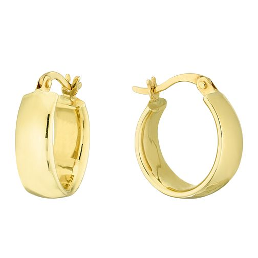 9ct Yellow Gold Plain Hoop Creole Earrings - Product number 4517504