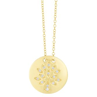 9ct Yellow Gold Tree Disc Pendant - Product number 4517792