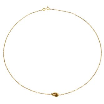 9ct Yellow Gold Knot Necklace - Product number 4517881