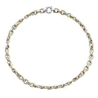 9ct Yellow Gold And Silver Chain Link Necklet - Product number 4517903
