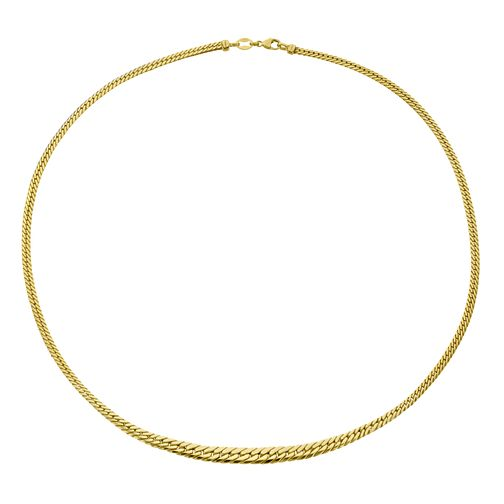 9ct Yellow Gold Graduated Herringbone Necklet - Product number 4517954
