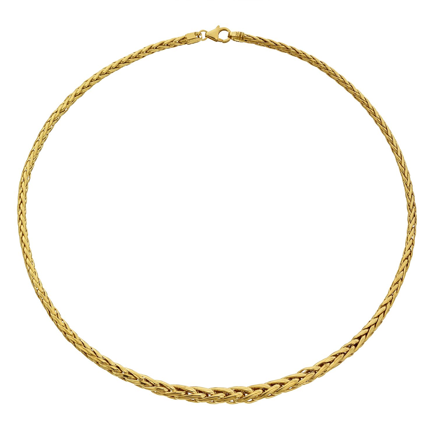 9ct Yellow Gold Graduated Spiga Necklet - Product number 4517962