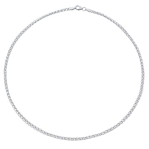 9ct White Gold Chain Link Necklet - Product number 4518047
