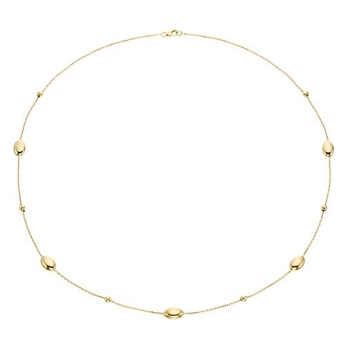 "9ct Yellow Gold Oval Bead 24"" Necklace - Product number 4518063"