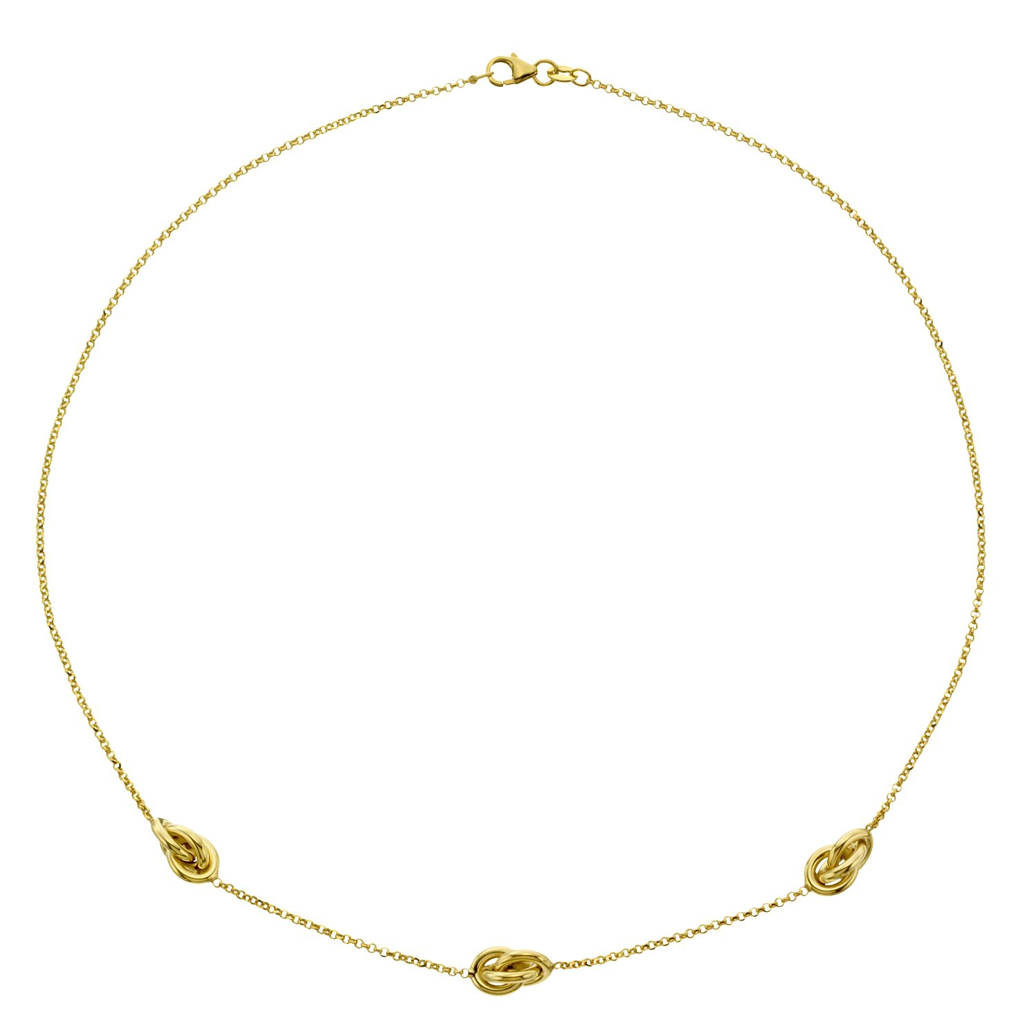 9ct Yellow Gold Knotted Necklet - Product number 4518128