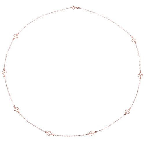"9ct Rose Gold 24"" Leaf Chain - Product number 4518179"