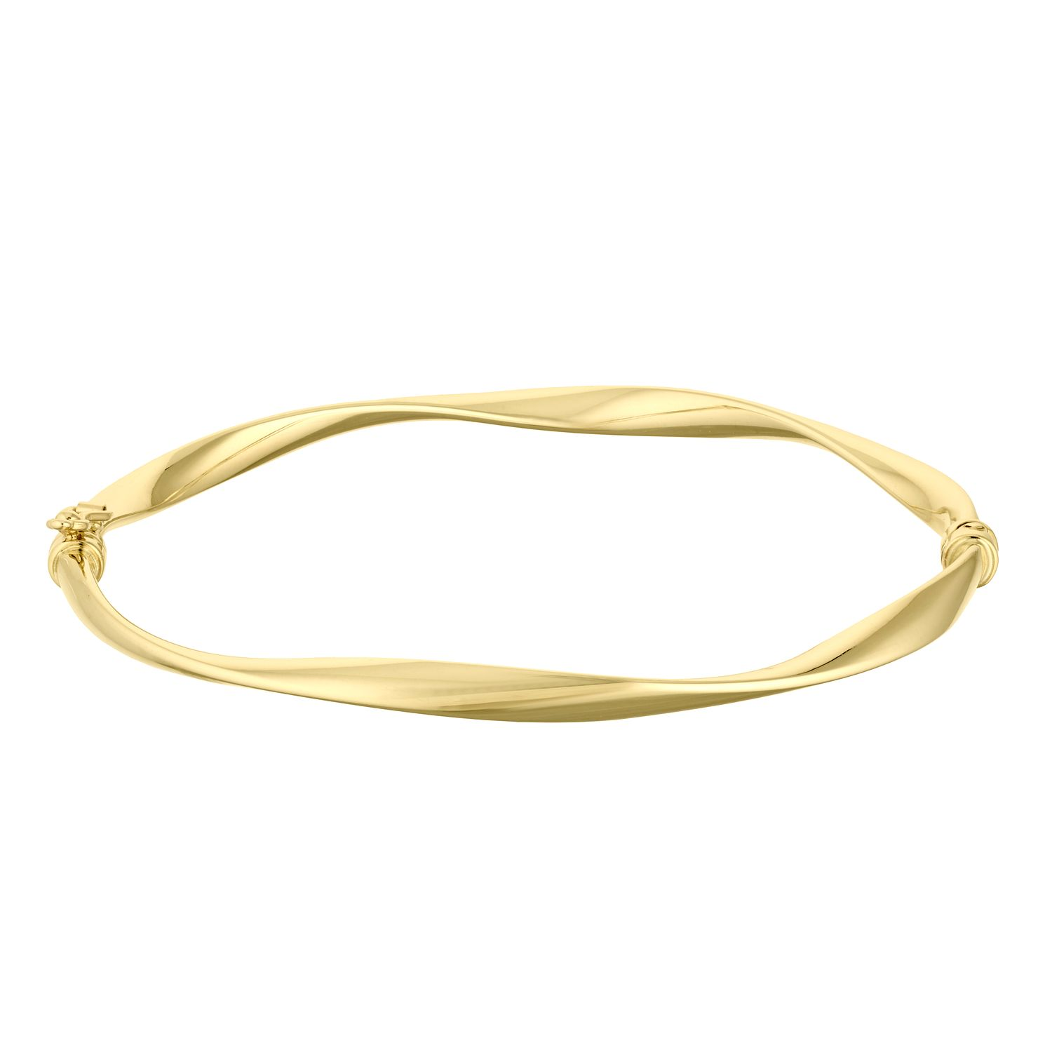 9ct Yellow Gold Hinged Twist Bangle - Product number 4518217