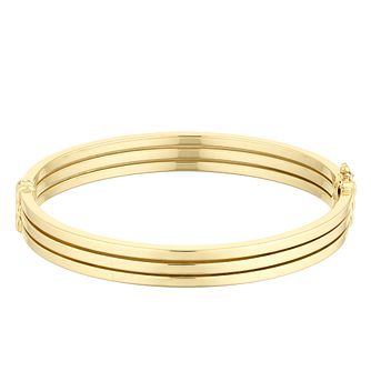 9ct Yellow Gold Triple Row Bangle - Product number 4518225
