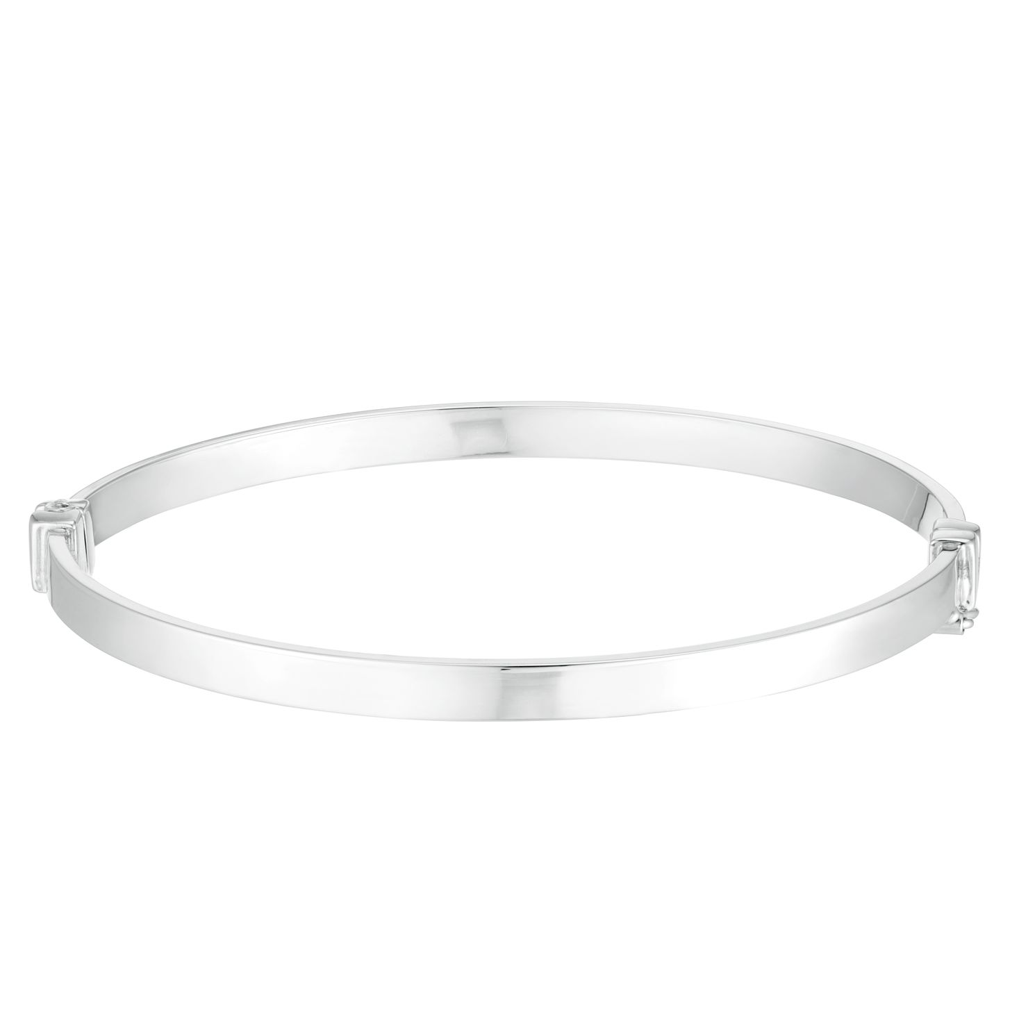 9ct White Gold Plain Bangle - Product number 4518233